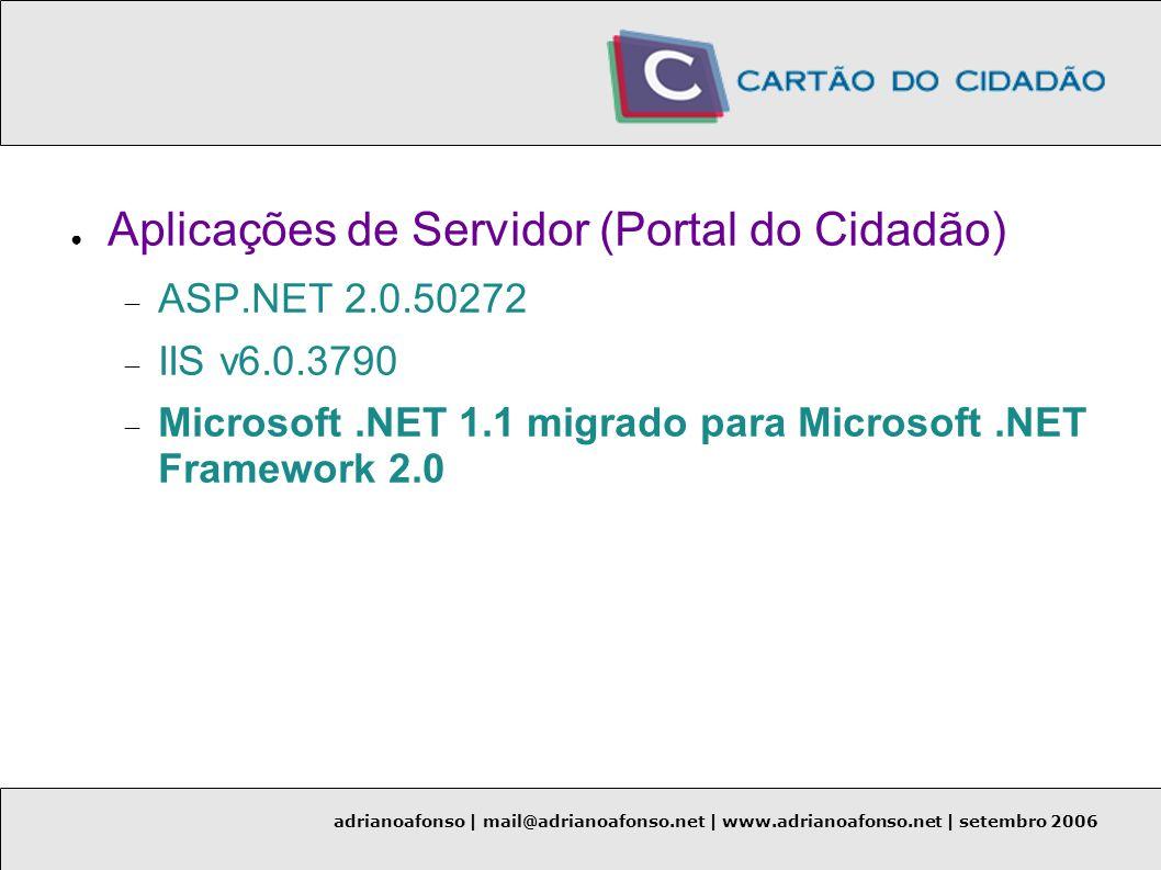 Aplicações de Servidor (Portal do Cidadão)
