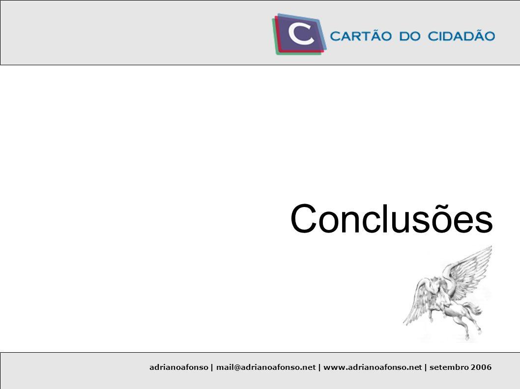 Conclusões adrianoafonso | mail@adrianoafonso.net | www.adrianoafonso.net | setembro 2006