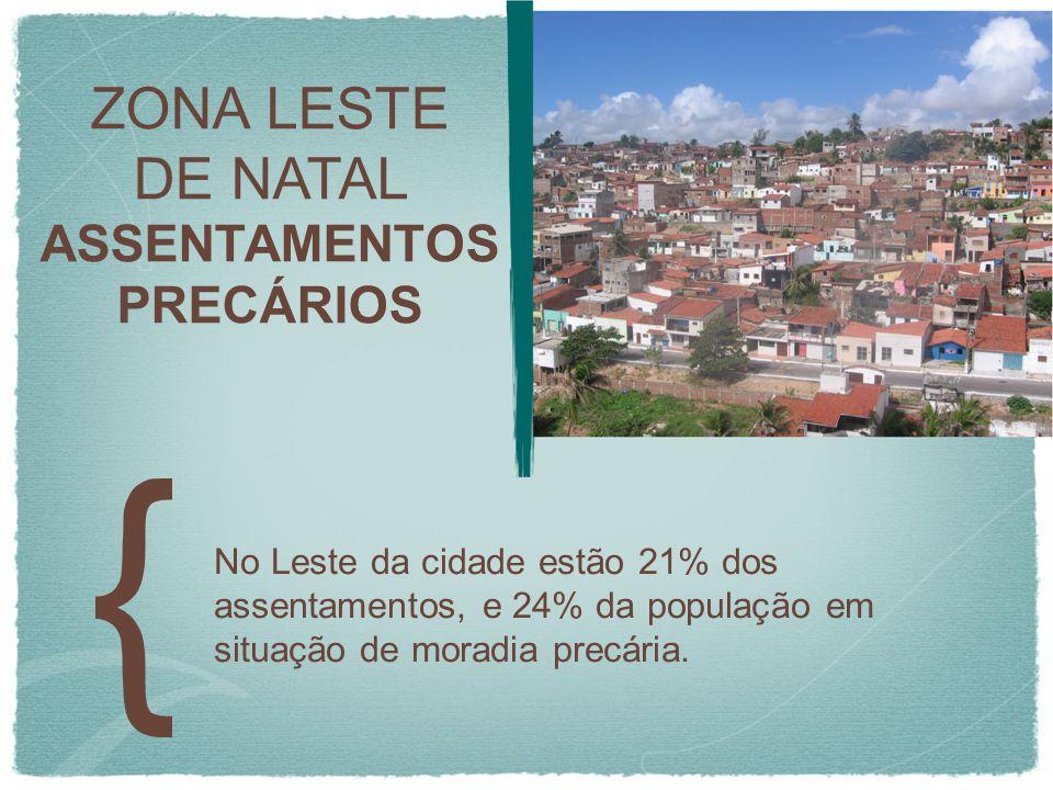 ZONA LESTE DE NATAL ASSENTAMENTOS PRECÁRIOS