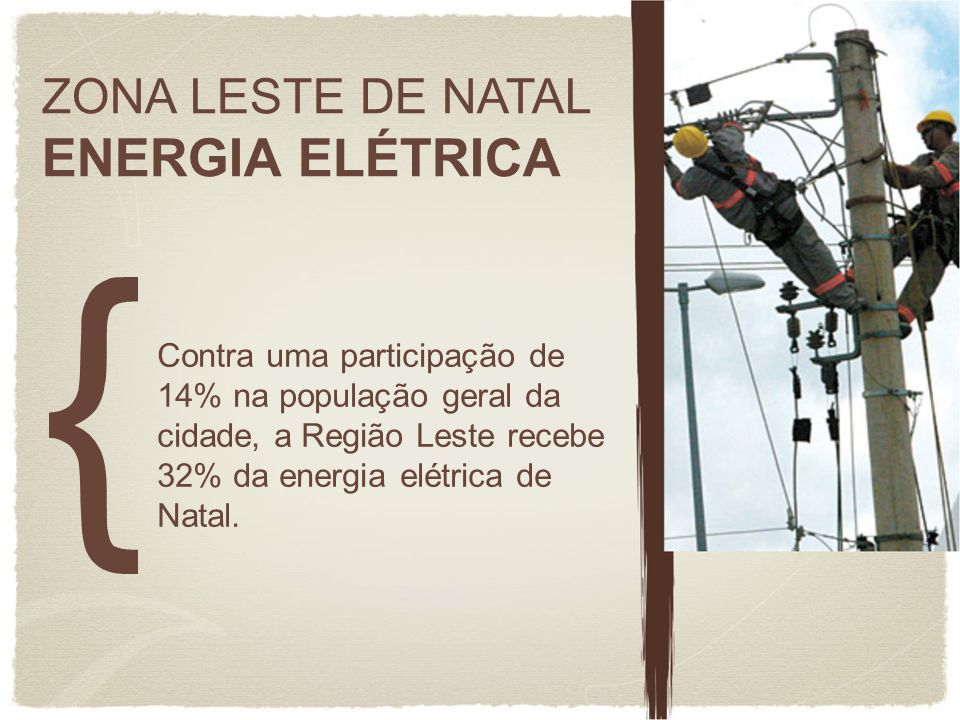 ENERGIA ELÉTRICA ZONA LESTE DE NATAL
