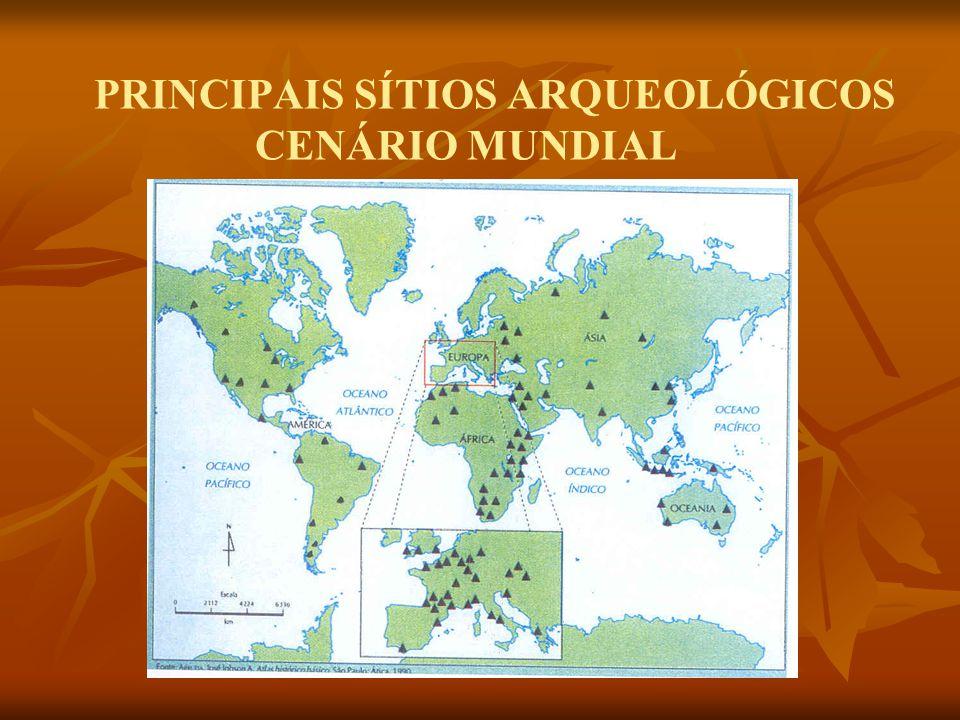 PRINCIPAIS SÍTIOS ARQUEOLÓGICOS CENÁRIO MUNDIAL