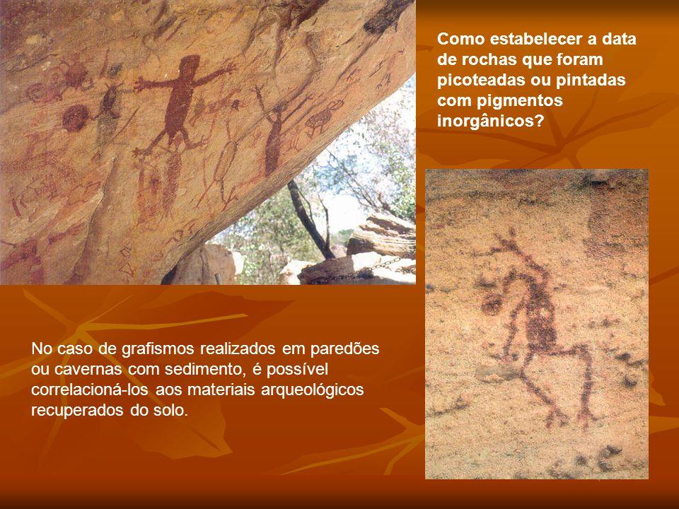 Como estabelecer a data de rochas que foram picoteadas ou pintadas com pigmentos inorgânicos