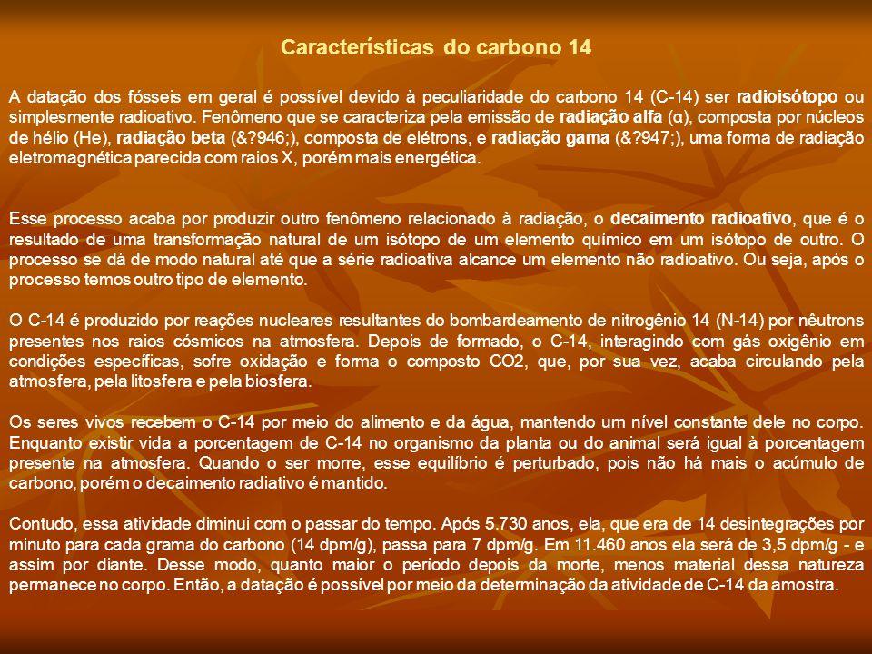 Características do carbono 14