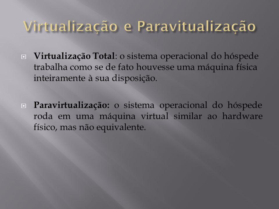 Virtualização e Paravitualização