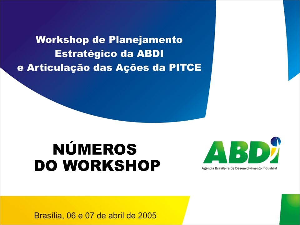 NÚMEROS DO WORKSHOP