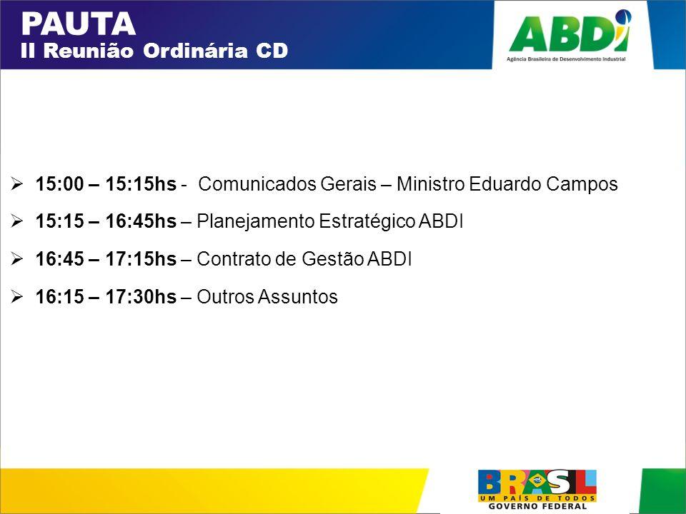 PAUTA II Reunião Ordinária CD