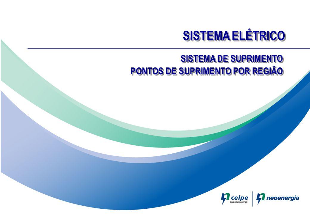 SISTEMA ELÉTRICO SISTEMA DE SUPRIMENTO PONTOS DE SUPRIMENTO POR REGIÃO