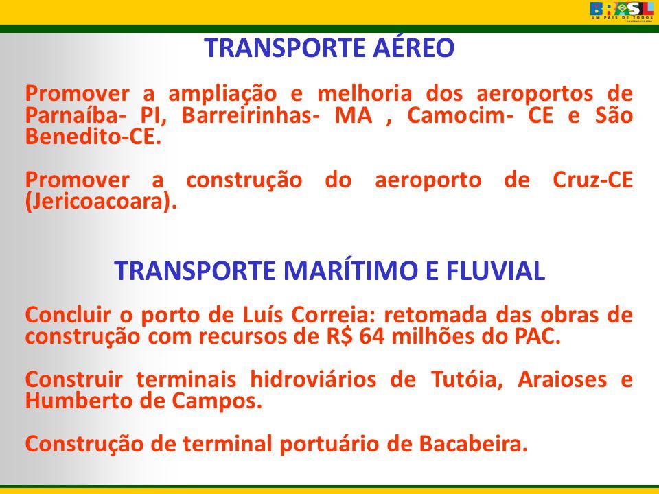 TRANSPORTE MARÍTIMO E FLUVIAL