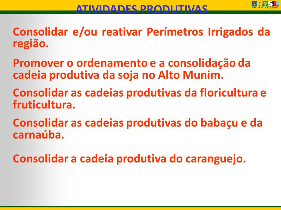 ATIVIDADES PRODUTIVAS