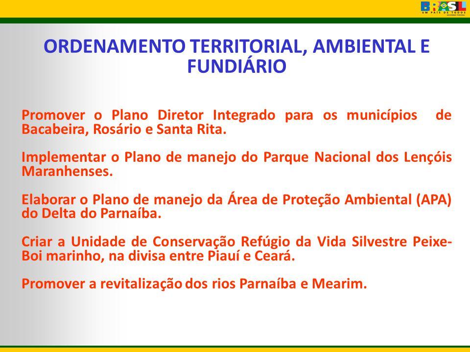 ORDENAMENTO TERRITORIAL, AMBIENTAL E FUNDIÁRIO