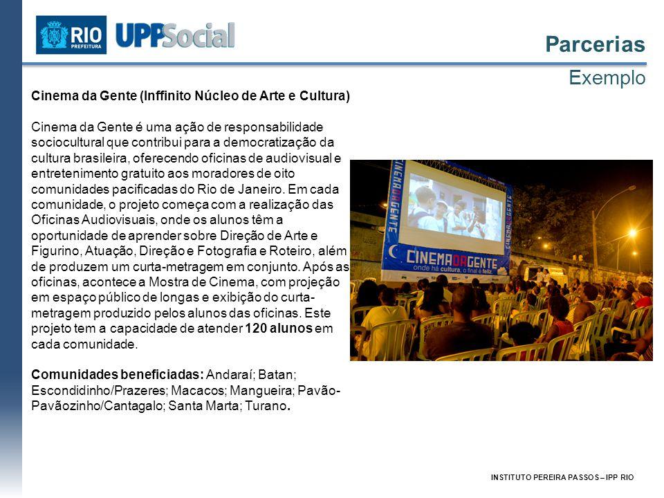 Parcerias Exemplo Cinema da Gente (Inffinito Núcleo de Arte e Cultura)
