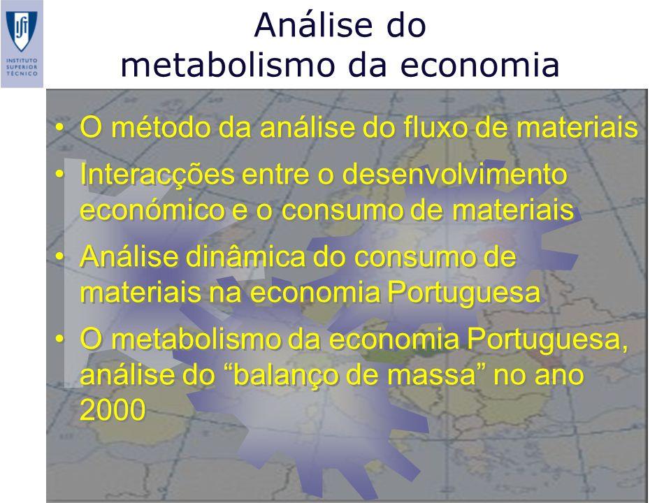 Análise do metabolismo da economia