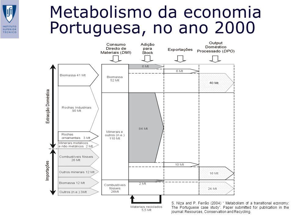 Metabolismo da economia Portuguesa, no ano 2000
