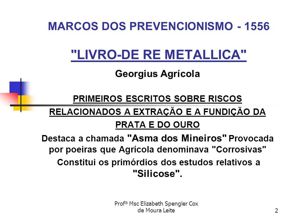 MARCOS DOS PREVENCIONISMO - 1556 LIVRO-DE RE METALLICA