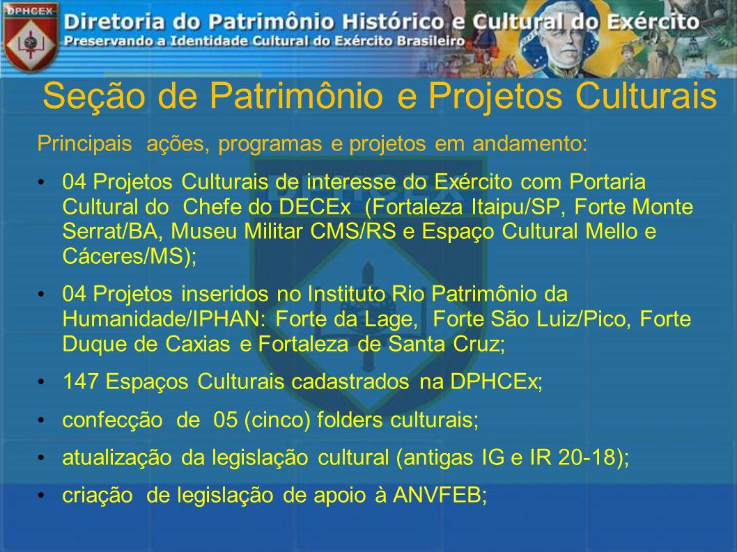 Seção de Patrimônio e Projetos Culturais