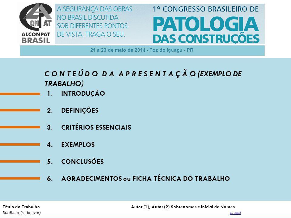 21 a 23 de maio de 2014 - Foz do Iguaçu - PR