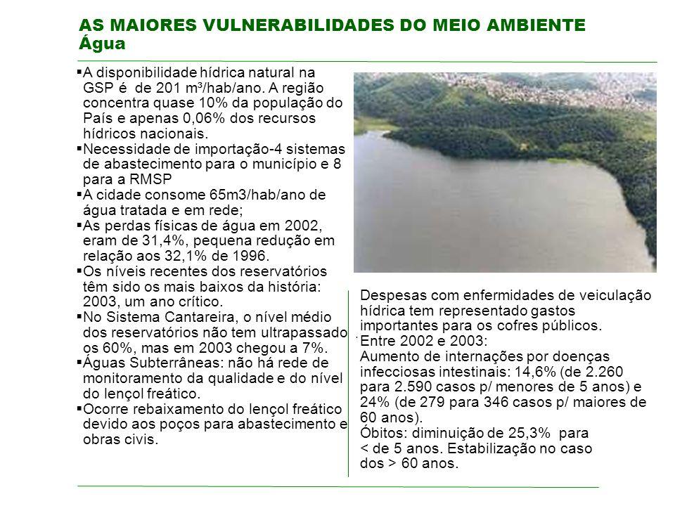 AS MAIORES VULNERABILIDADES DO MEIO AMBIENTE Água