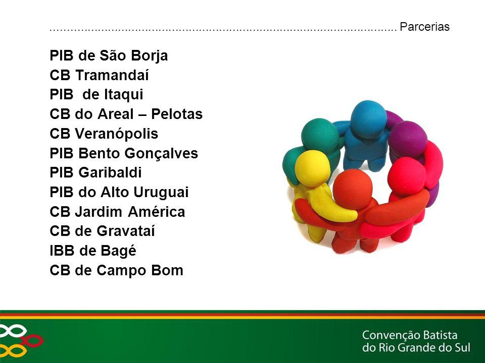 PIB de São Borja CB Tramandaí PIB de Itaqui CB do Areal – Pelotas