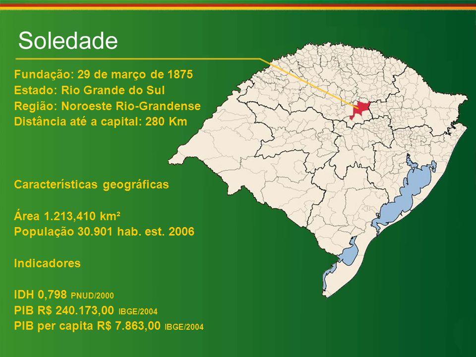 Fundação: 29 de março de 1875 Estado: Rio Grande do Sul. Região: Noroeste Rio-Grandense. Distância até a capital: 280 Km.