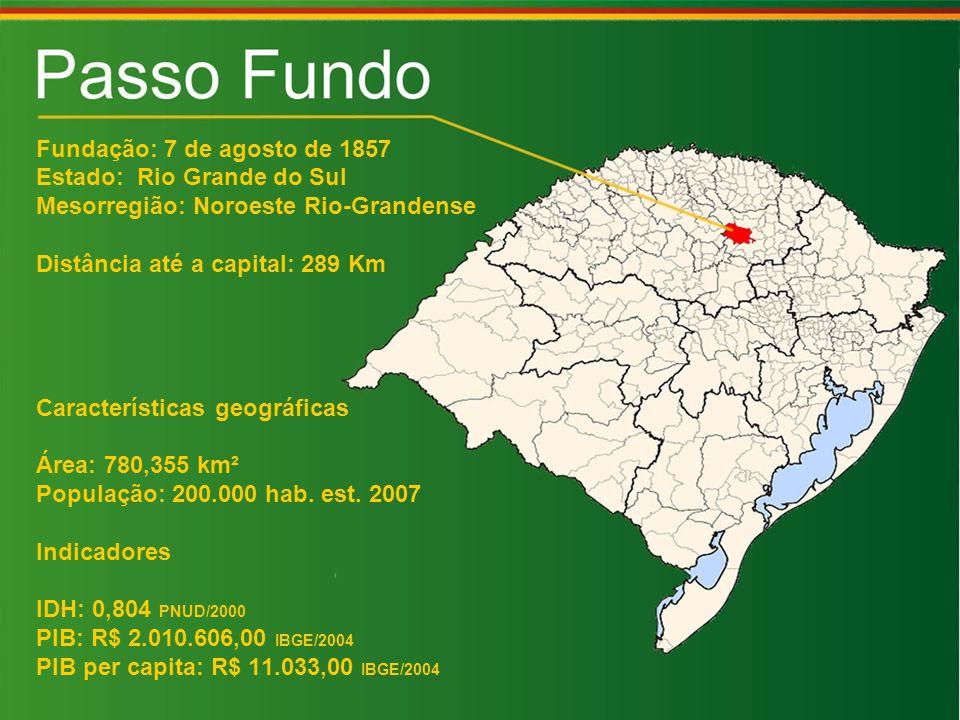 Fundação: 7 de agosto de 1857 Estado: Rio Grande do Sul. Mesorregião: Noroeste Rio-Grandense. Distância até a capital: 289 Km.