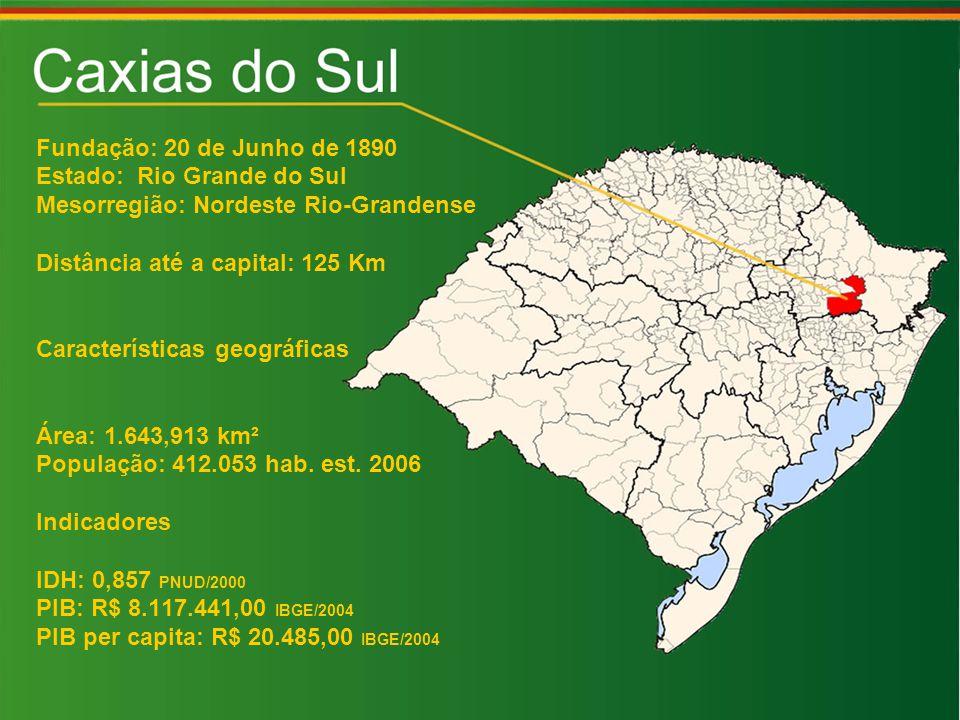 Fundação: 20 de Junho de 1890 Estado: Rio Grande do Sul. Mesorregião: Nordeste Rio-Grandense. Distância até a capital: 125 Km.
