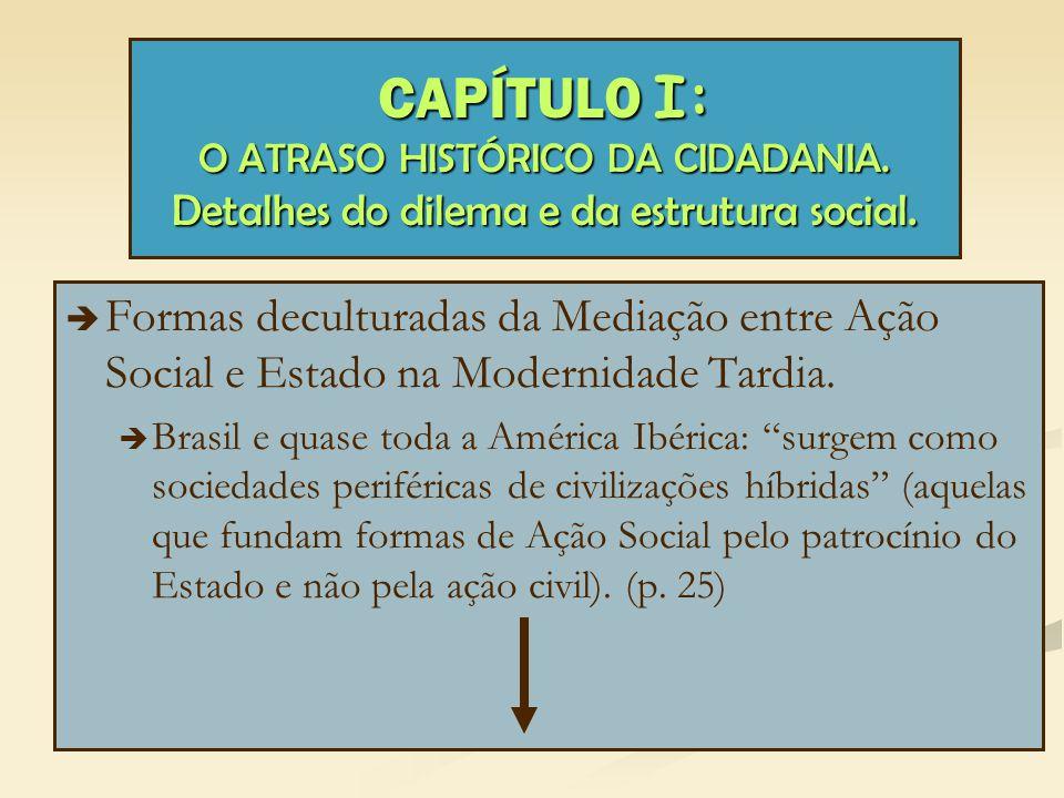 CAPÍTULO I: O ATRASO HISTÓRICO DA CIDADANIA