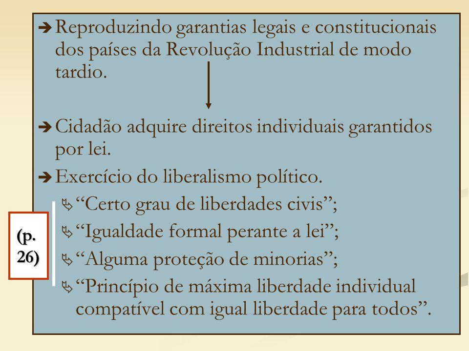 Cidadão adquire direitos individuais garantidos por lei.