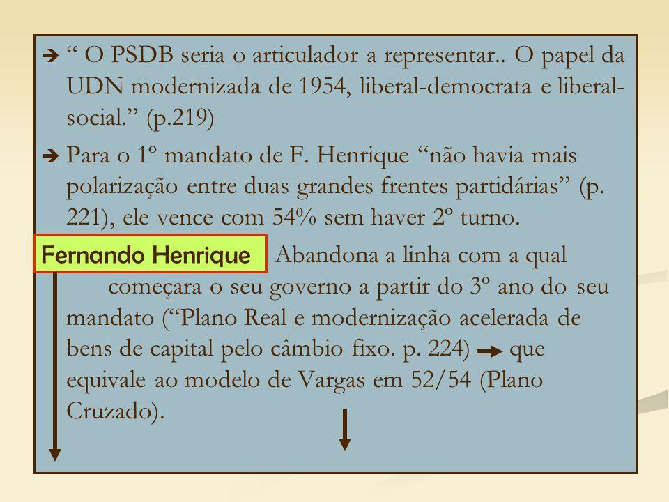 O PSDB seria o articulador a representar