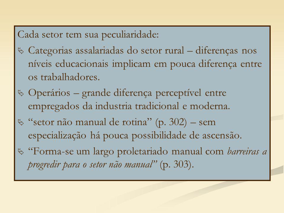 Cada setor tem sua peculiaridade: