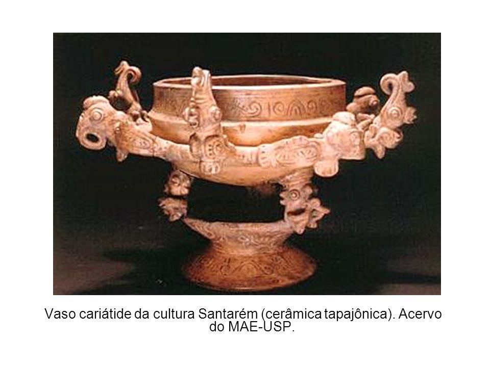 Vaso cariátide da cultura Santarém (cerâmica tapajônica)