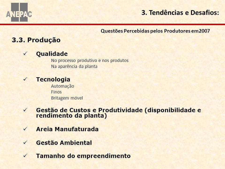 Questões Percebidas pelos Produtores em2007