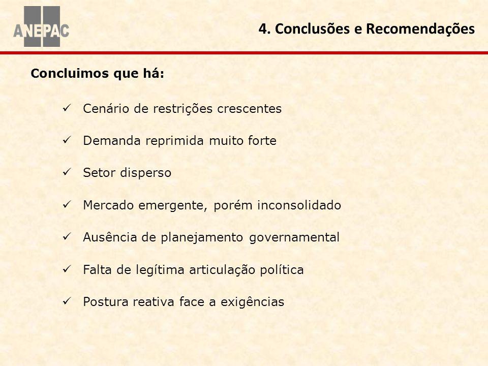 Concluimos que há: 4. Conclusões e Recomendações