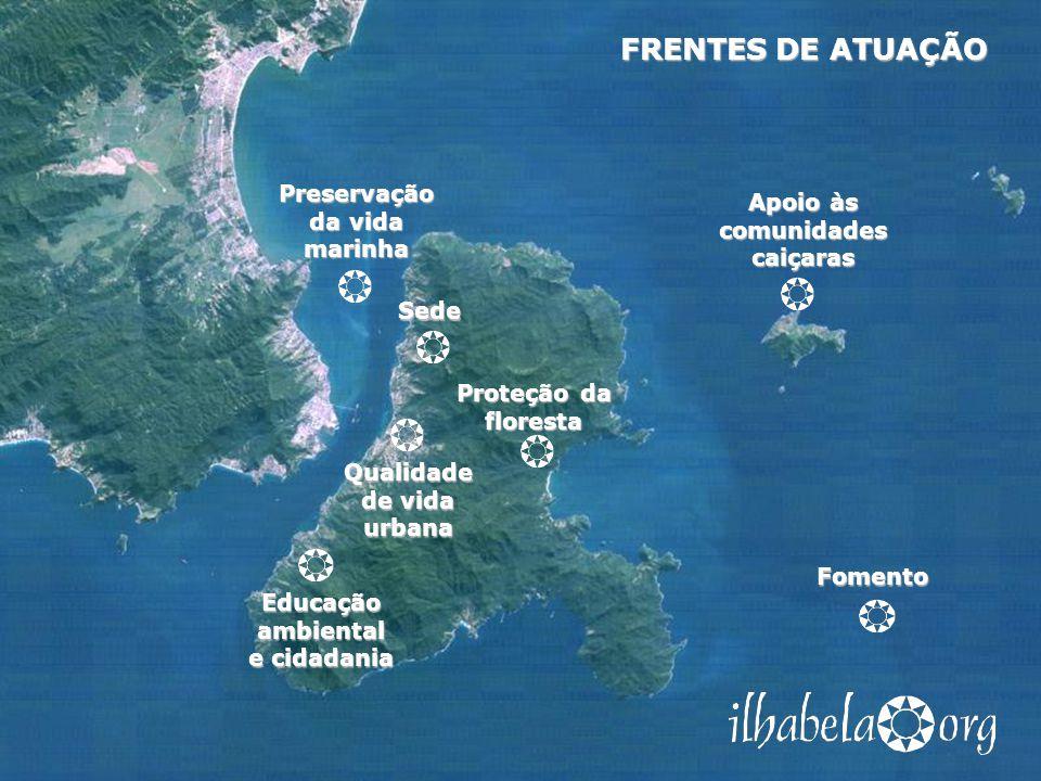 FRENTES DE ATUAÇÃO Preservação da vida marinha