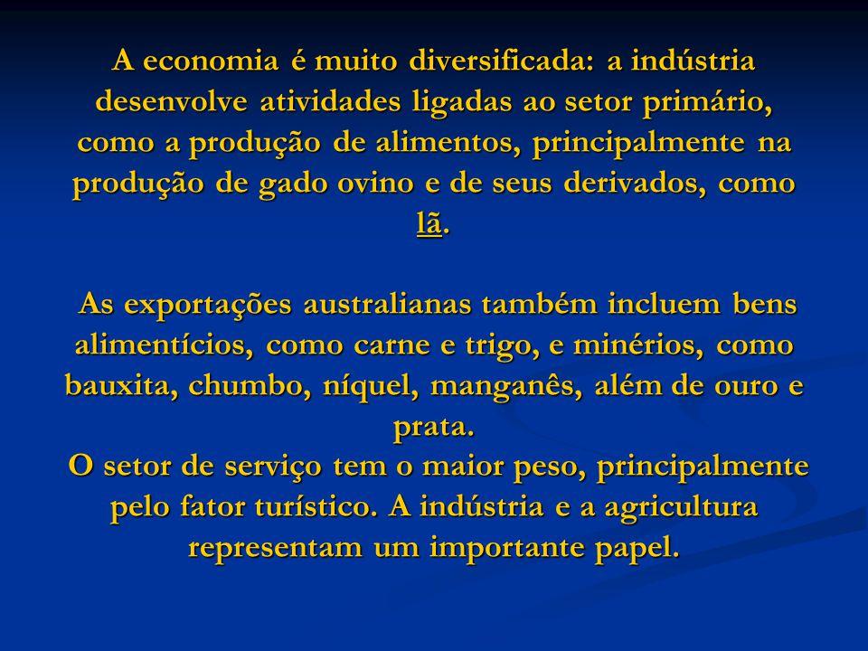 A economia é muito diversificada: a indústria desenvolve atividades ligadas ao setor primário, como a produção de alimentos, principalmente na produção de gado ovino e de seus derivados, como lã.
