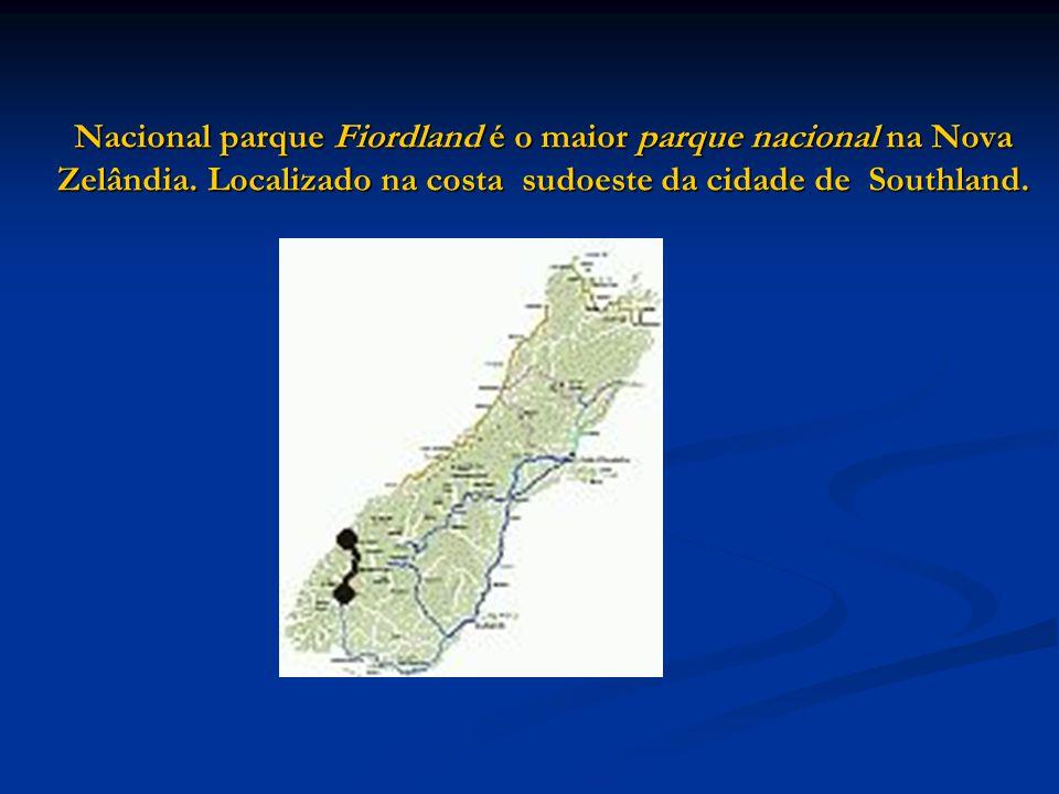 Nacional parque Fiordland é o maior parque nacional na Nova Zelândia