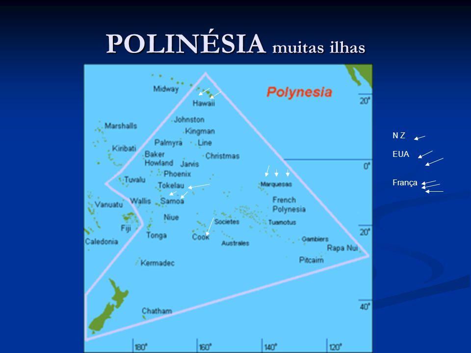 POLINÉSIA muitas ilhas