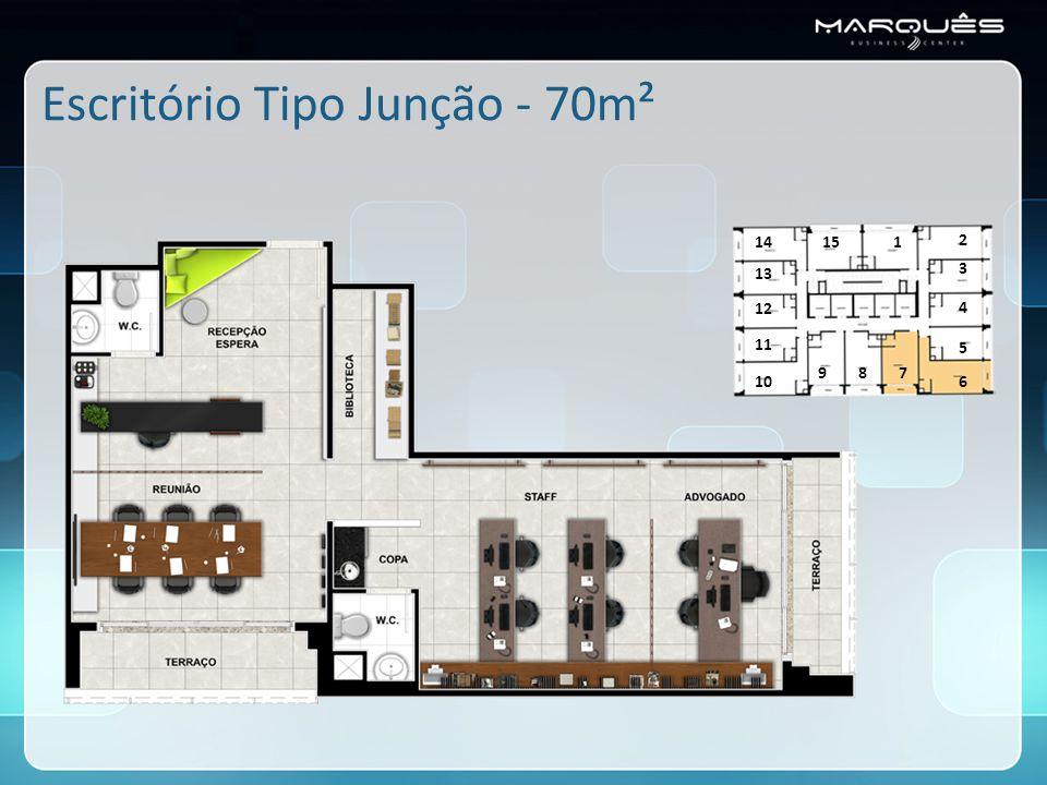 Escritório Tipo Junção - 70m²
