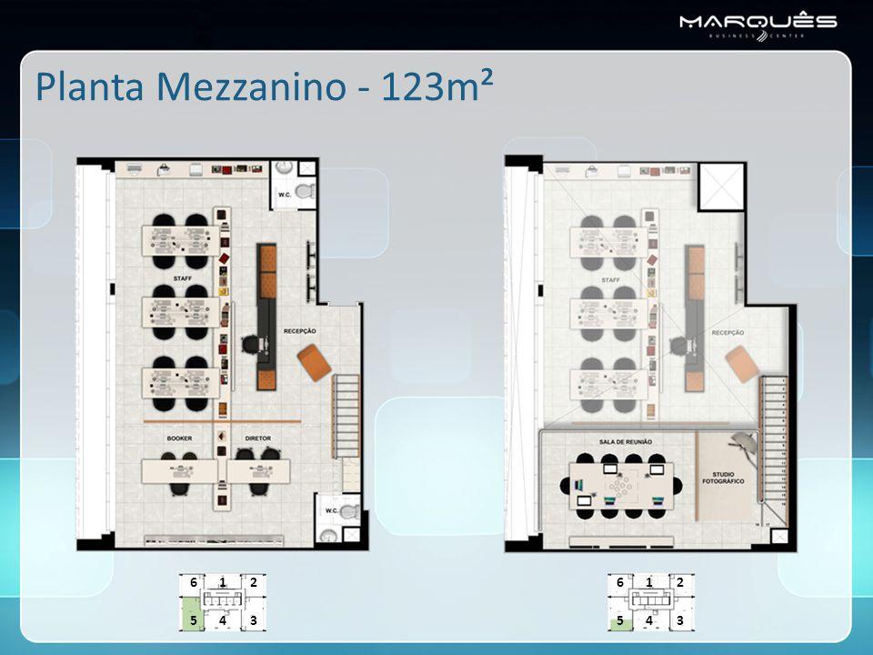 Planta Mezzanino - 123m² 6 1 2 6 1 2 5 4 3 5 4 3
