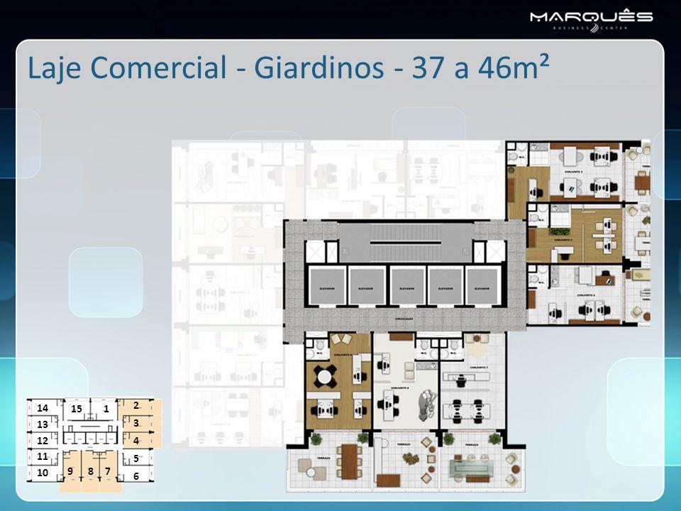 Laje Comercial - Giardinos - 37 a 46m²