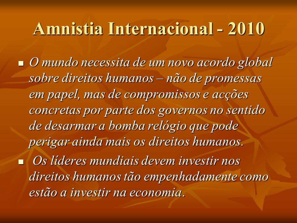 Amnistia Internacional - 2010