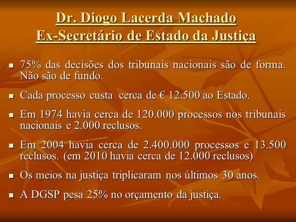 Dr. Diogo Lacerda Machado Ex-Secretário de Estado da Justiça