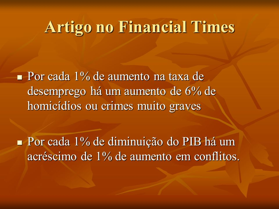 Artigo no Financial Times