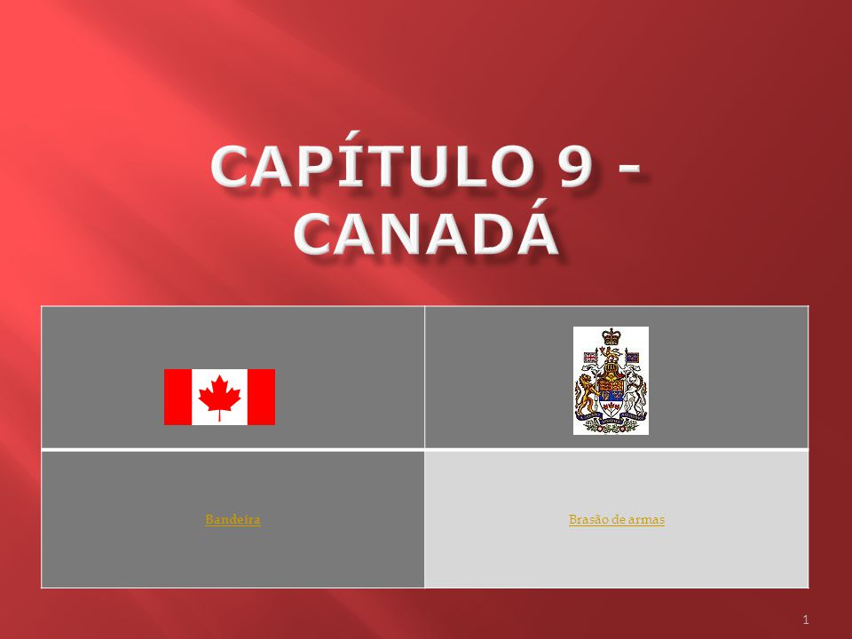 Capítulo 9 - Canadá Bandeira Brasão de armas