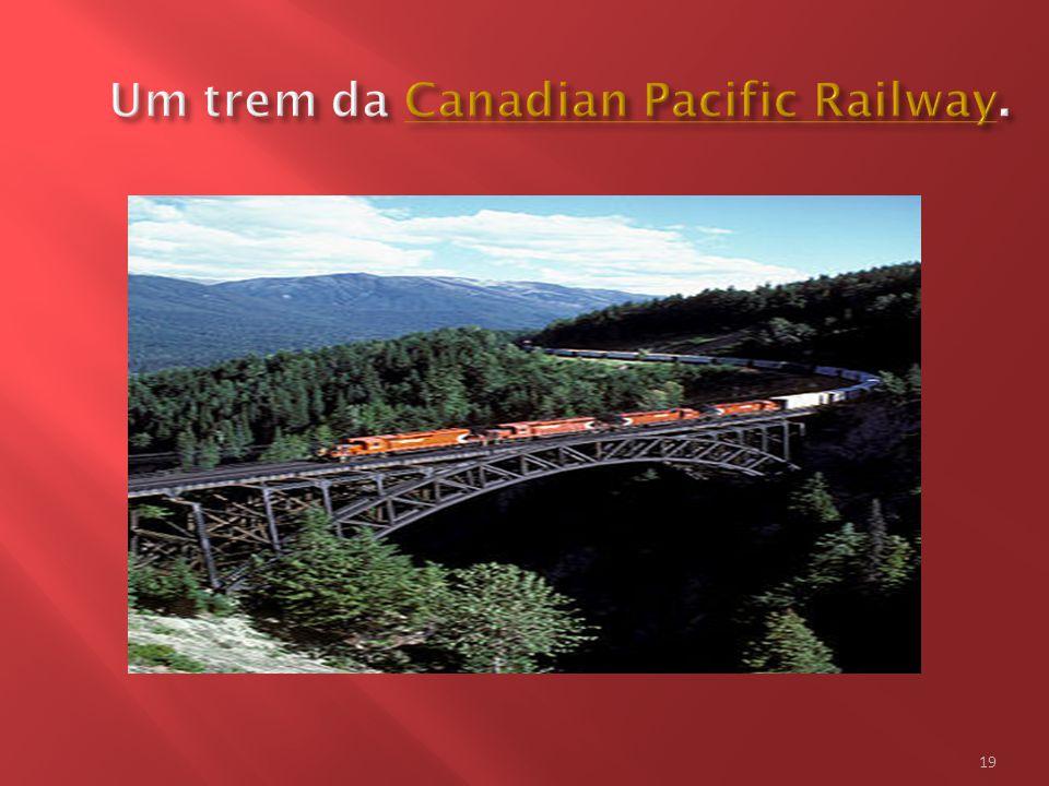 Um trem da Canadian Pacific Railway.