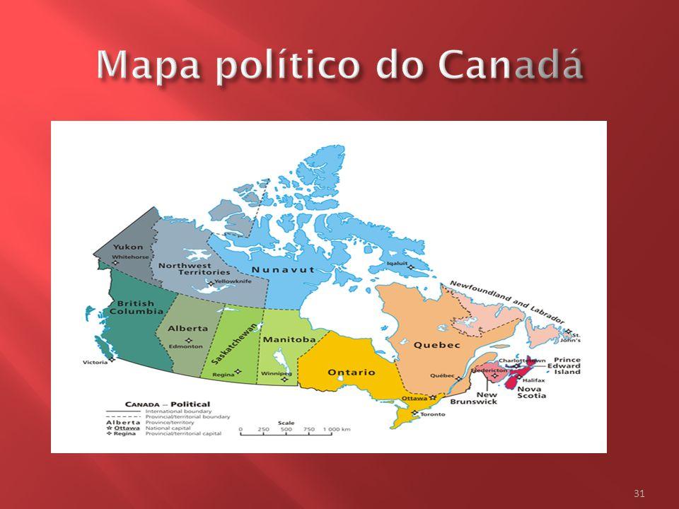 Mapa político do Canadá