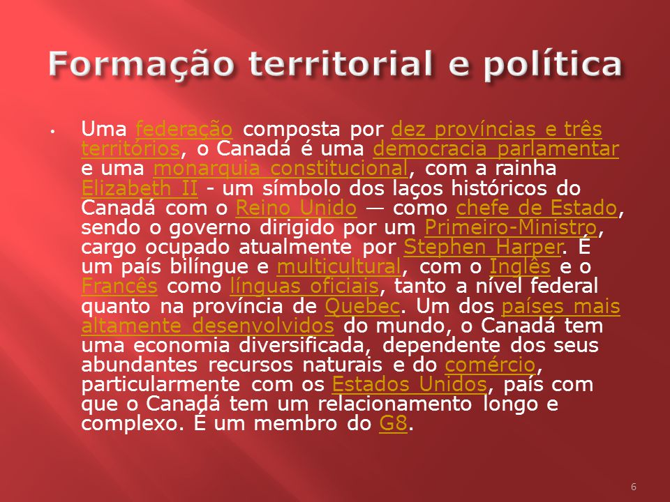 Formação territorial e política