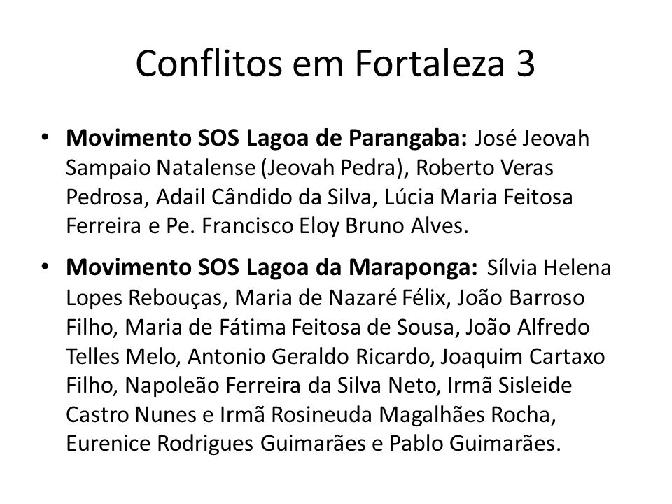 Conflitos em Fortaleza 3