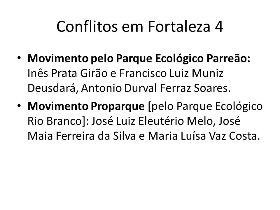 Conflitos em Fortaleza 4