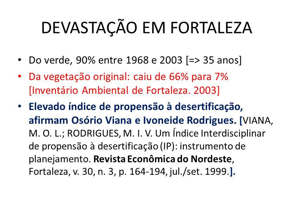 DEVASTAÇÃO EM FORTALEZA
