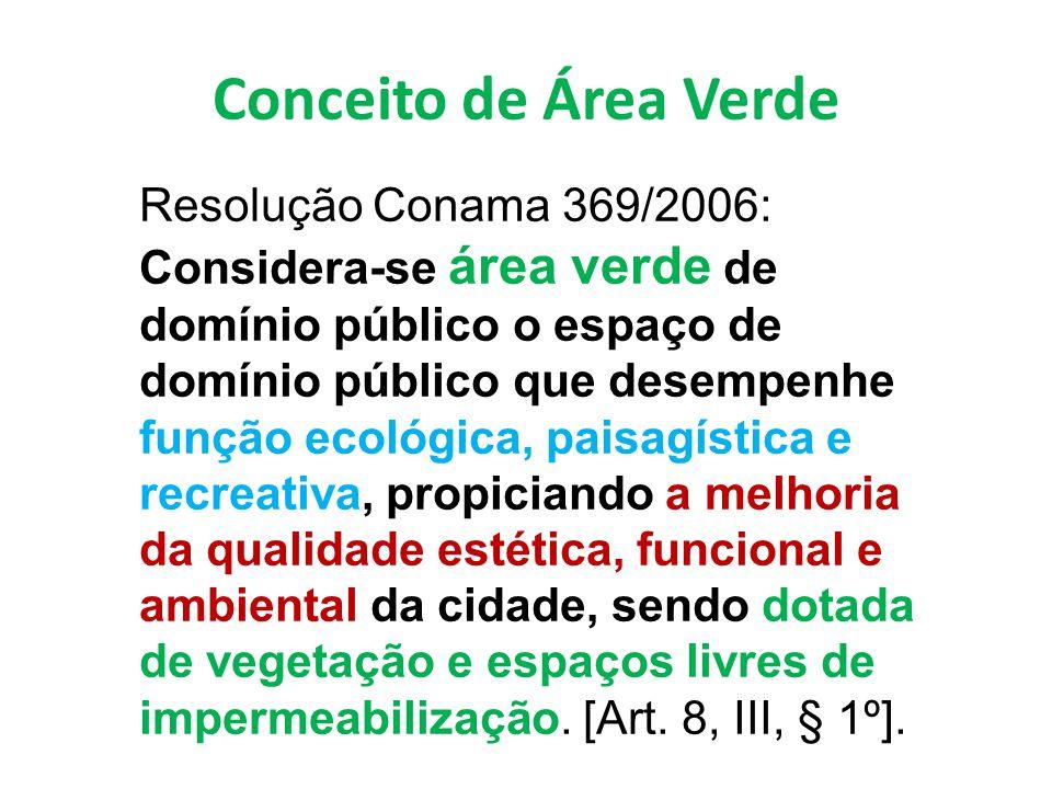 Conceito de Área Verde Resolução Conama 369/2006: